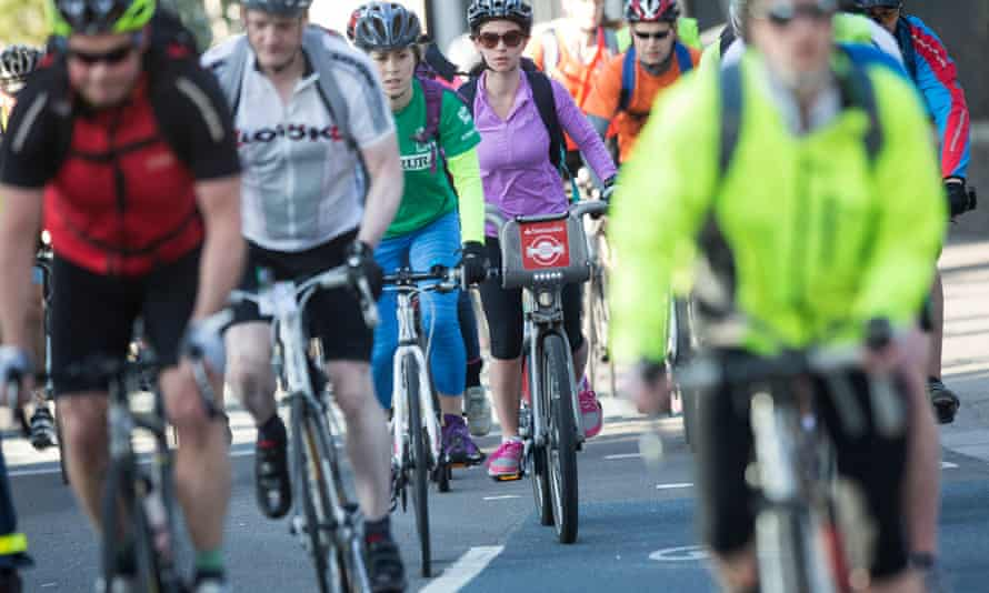 Cyclists in London, April 2015.