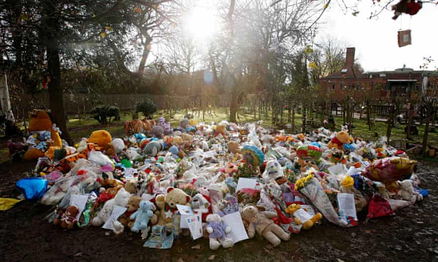 A floral memorial for Baby P