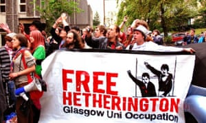 Love protesting at the University of Glasgow