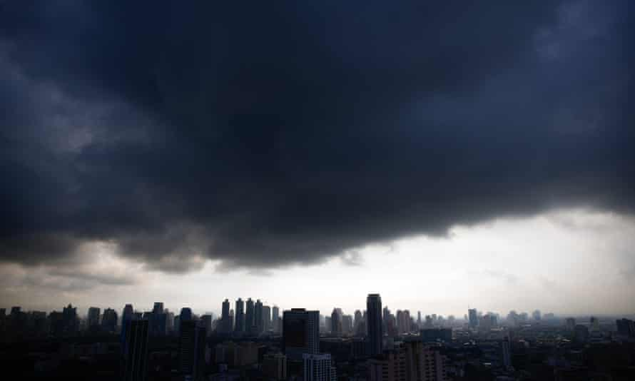 Dark clouds hover over Bangkok.  Isoprene emissions can lead to cloud formation, but the results of a study on the subject were clouded by biased and inaccurate reports in the conservative media.
