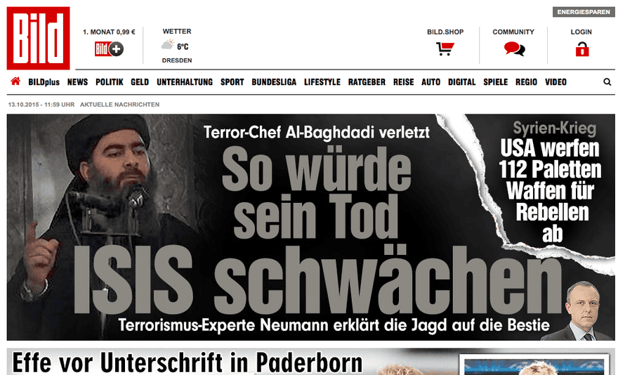 Axel Springer has banned readers who use adblockers from the Bild website
