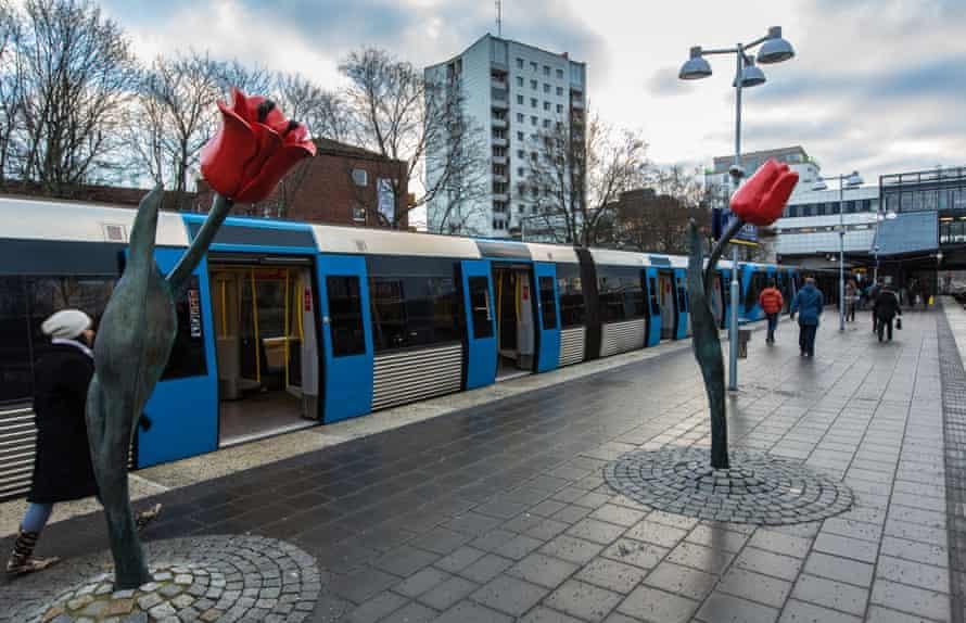 Högdalen metro station in Stockholm