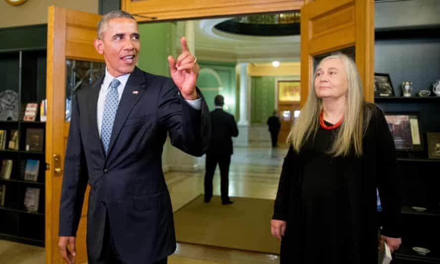 President Barack Obama with Marilynne Robinson.