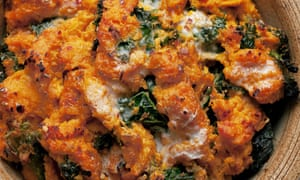 Nigel Slater's sweet potato and kale bubble and squeak