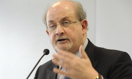 Salman Rushdie speaks at the 2015 Frankfurt Book Fair.