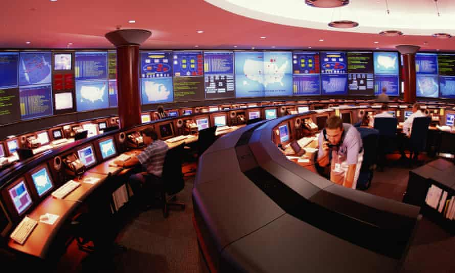 A power station control room