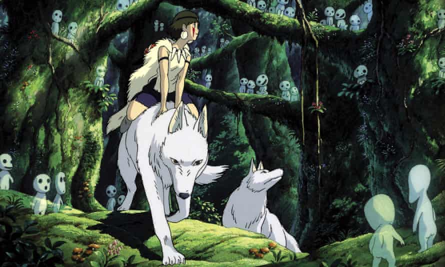 A still from Studio Ghibli production Princess Mononoke (aka Mononoke-Hime), which used Yakushima as inspiration for its animation.