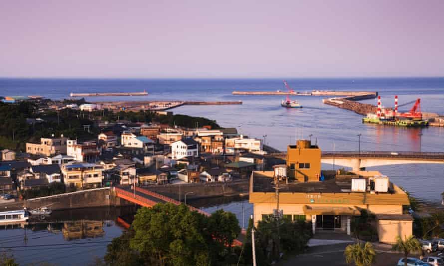 The port of Anbo, Yakushima, Japan