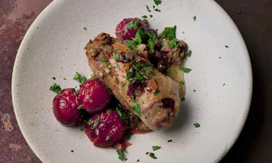 Pork and plum roll