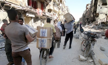The United Nations Relief and Works Agency for Palestine refugees in the near east (UNRWA) provide food assistance for Palestinian refugee.