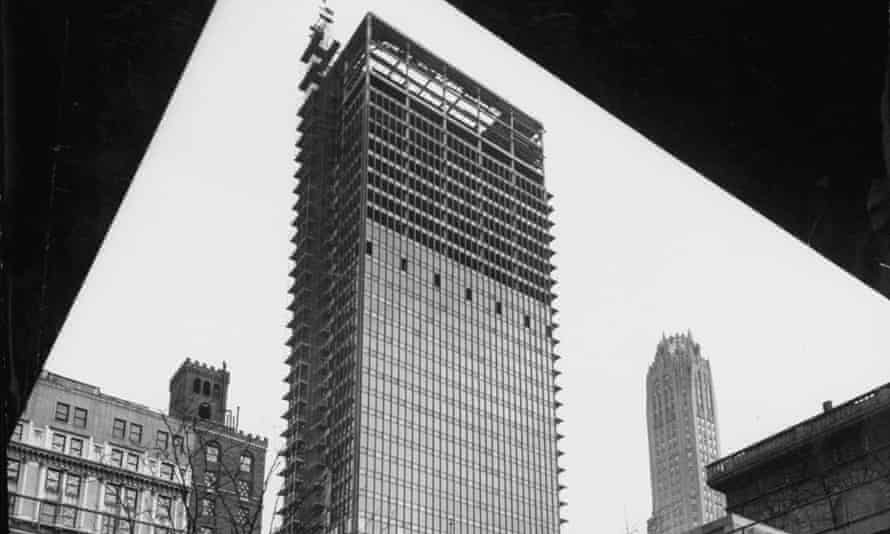 Modern steel and glass Seagram's office building on Park Avenue