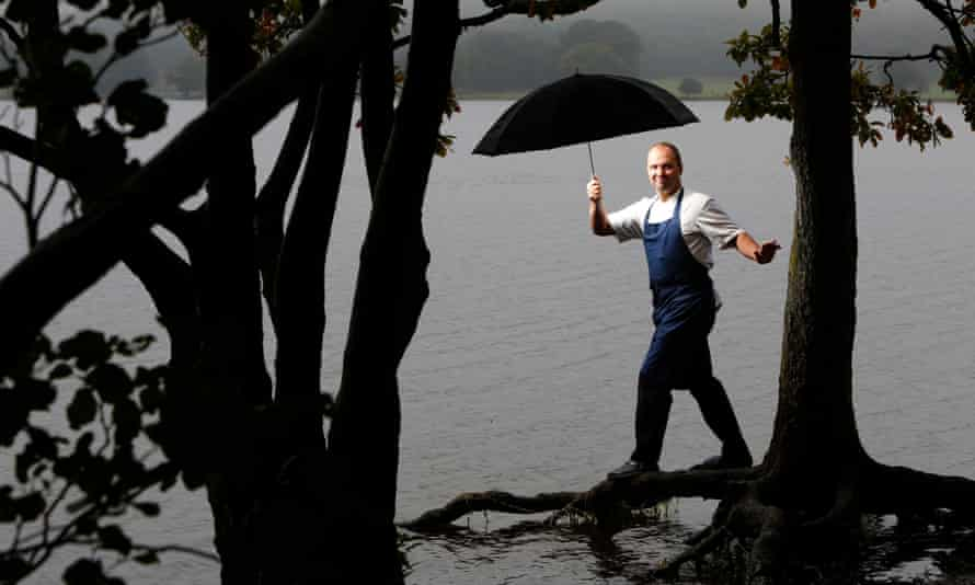 <strong>North:</strong> L'Enclume's Simon Rogan by Coniston water in the Lake District, Cumbria.