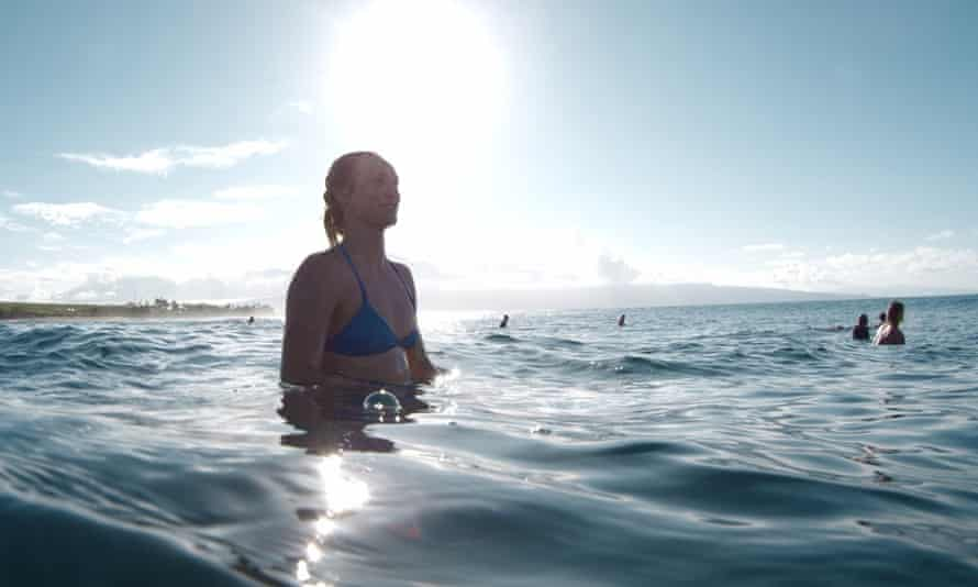 Alms is one of the few women found regularly on the big wave line ups.
