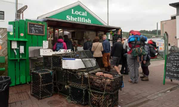 'Scallops the size of a Labrador's paw are served in a puddle of salty garlic butter': Oban Seafood Hut.