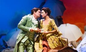 Eliana Pretorian (Norina) and Tuomas Katajala (Ernesto) in Don Pasquale at Glyndebourne.
