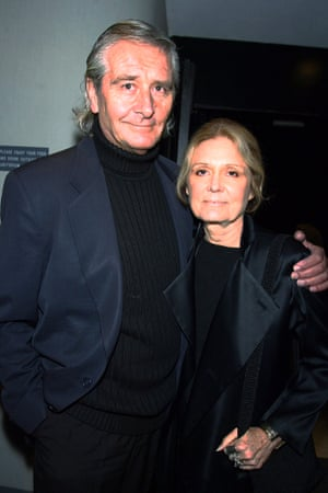 Gloria Steinem with her late husband, David Bale, in 2003