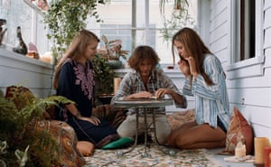 Joanna Newsom, left, with Joaquin Phoenix and Katherine Waterston in Inherent Vice