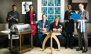 The team from The Clink, HMP Brixton including, third from left, chief executive Chris Moore.