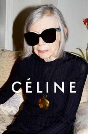 Joan Didion in Céline's spring 2015 campaign.