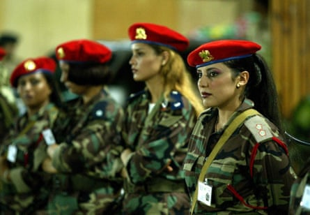 Gaddafi's female bodyguards.