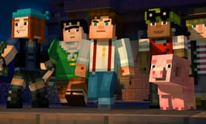 Minecraft: Story Mode's cast of heroes.