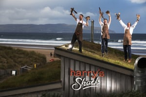 Andy Proven, Donald Doherty  and Derek Creagh  of Harry's Shack, Portstewart, Northern Ireland.