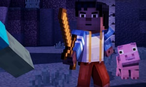 There are action sequences in Minecraft: Story Mode, but they're not the game's main appeal.