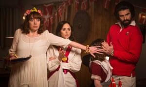 The Kennedys: Brenda (Katherine Parkinson), Jenny (Emma Pierson), Emma (Lucy Hutchinson) and Tony (Dan Skinner).