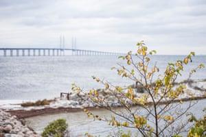Öresund bridge, Skåne.