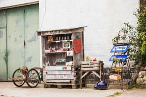 Farm shop, Brösarp, Skane, Sweden.