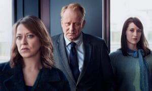 Stellan Skarsgård with Nicola Walker, left, and Georgina Rich in River: 'superior in almost every way'.