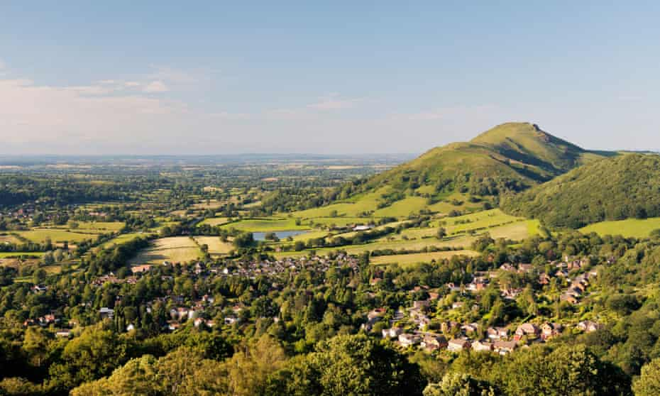 Countryside views over Church Stretton, Shropshire.