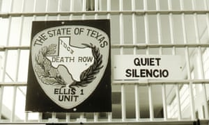 A bilingual sign at the entrance gate to the Ellis death row unit in Huntsville Prison, Huntsville, Texas, 1999.