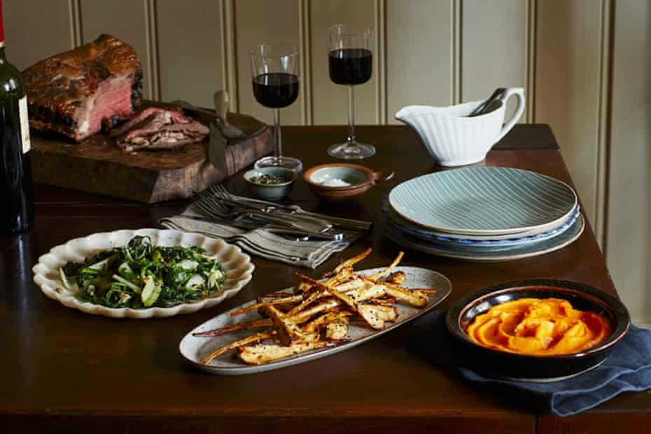 A table laid out with side dishes