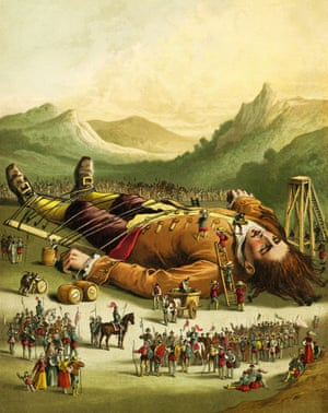 A print from Gulliver's Travels (1860s)