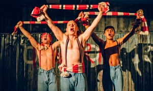Jake Davies, Thomas Coombes and Josh Williams in Barrie Keeffe's Barbarians.