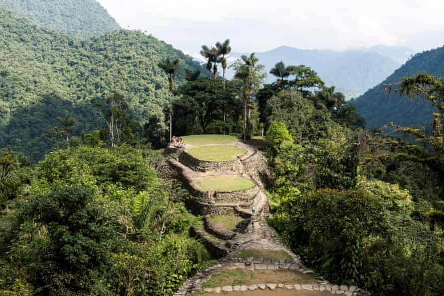 The central area of the Lost City, Colombia.