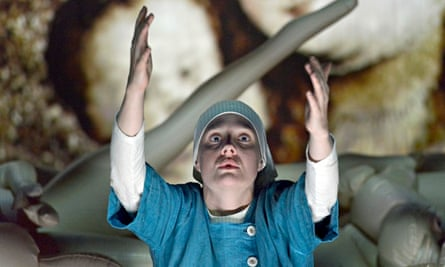 Romola Garai as Isabella in Measure for Measure at the Young Vic