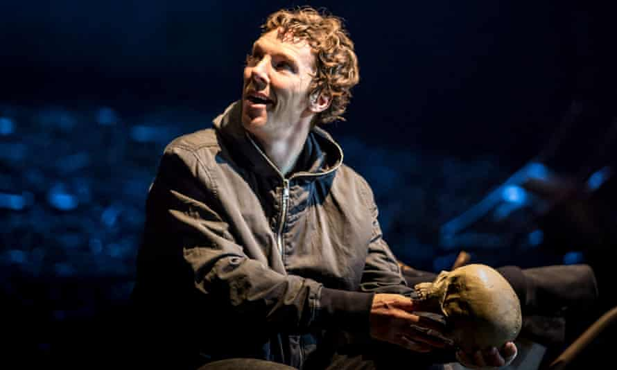 Benedict Cumberbatch as Hamlet at the Barbican.