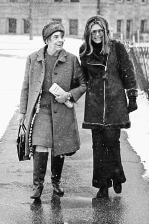 Gloria Steinem with her mother in 1972.