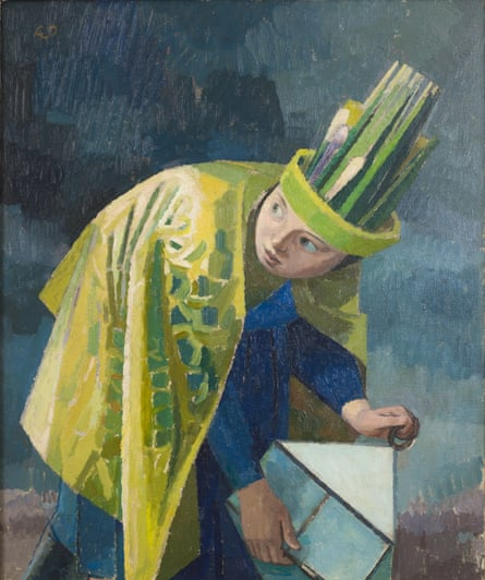 February, 1937-38, by Evelyn Dunbar, an oil painting following an original design for Country Life.