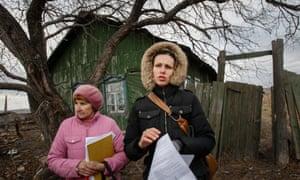 Nadezhda Kutepova in her village, Muslyumovo