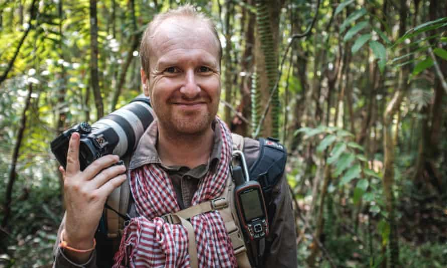 Tour guide and bioengineer Stéphane de Greef, in Cambodia