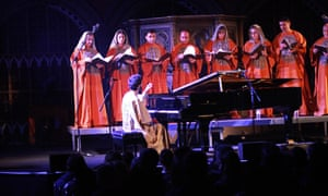 Tigran Hamasyan with members of the Yerevan State Chamber Choir