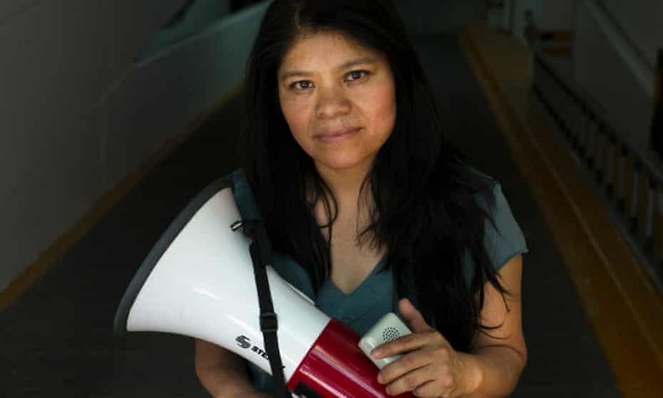 Marcelina Bautista abandonó su trabajo de limpieza y estableció una organización para empleadas domésticas. <br><br>