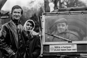 Farmers' demo on milk prices, Sussex 1965.