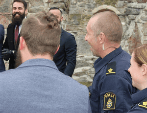 Swedish police officers show up at an @beardedvillains_sweden photoshoot.