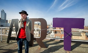 …Bob Or Roberta Smith on the roof of the Cass.