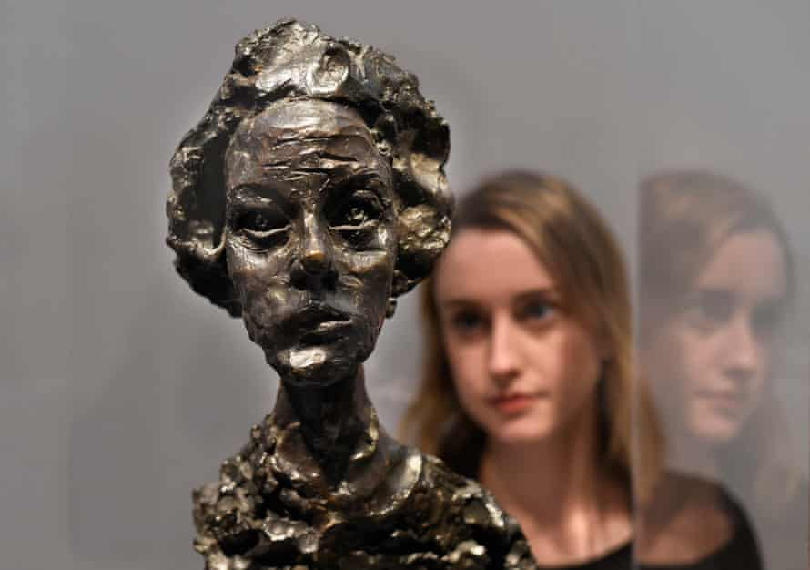 Annette IV, 1962 by Alberto Giacometti at the National Portrait Gallery.