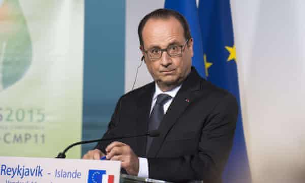 France's president Francois Hollande.